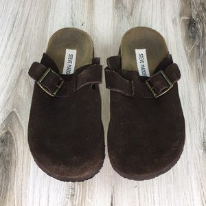 Steve Madden Brown Slides